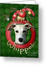 Deck The Halls With Whippets Greeting Card by Renae Laughner