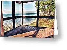 Deck With Ocean View Greeting Card