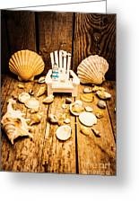 Deckchairs And Seashells Greeting Card