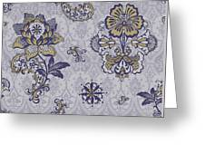 Deco Flower Blue Greeting Card