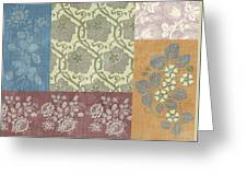 Deco Flower Patchwork 2 Greeting Card