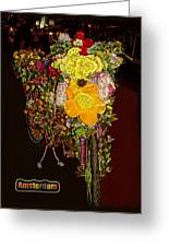 Decorated Amsterdam Bike Greeting Card