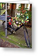 Decorated Bicycle. Amsterdam. Netherlands. Europe Greeting Card