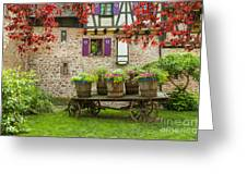 Half-timbered House, Riquewihr, Alsace,france  Greeting Card