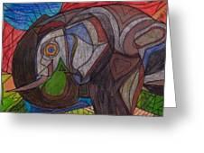 Decorated Elefant Greeting Card
