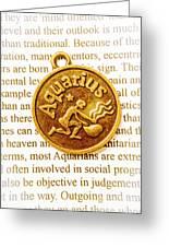 Decorative Aquarius Greeting Card
