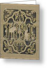 Decorative Design, Carel Adolph Lion Cachet, 1874 - 1945 Vq Greeting Card
