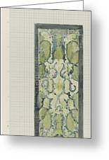 Decorative Design In Green And Blue, Carel Adolph Lion Cachet, 1874 - 1945 Greeting Card