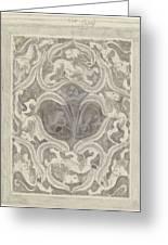 Decorative Design With Leaf Motif, Carel Adolph Lion Cachet, 1874 - 1945 Greeting Card