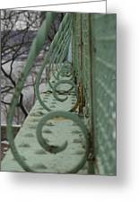 Decorative Foot Bridge Greeting Card