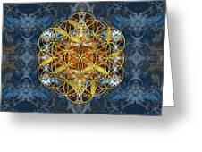 Decorative Gemstone Sacred Geometry Flower Of Life   Greeting Card