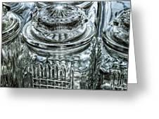 Decorative Glass Jars Greeting Card