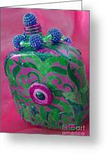 Decorative Pink Bottle Greeting Card