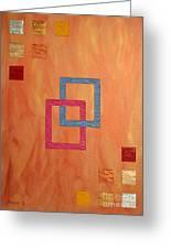 Decorative Squares Greeting Card