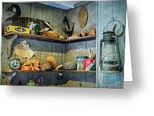 Decoy Workshop Shelves Greeting Card