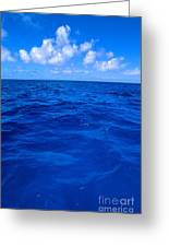 Deep Blue Ocean Greeting Card