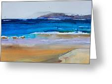 Deep Blue Sea And Golden Sand Greeting Card