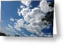 Deep Blue With Lovely Clouds Greeting Card