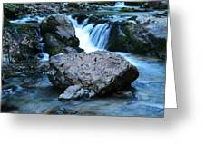 Deep Creek Flowing Between The Rocks Greeting Card