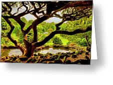Deep Cuts Gazebo Between The Tree Branches Greeting Card