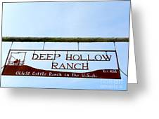 Deep Hollow Ranch Greeting Card