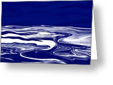 Deep In Blue Greeting Card
