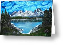 Deep Mountain Lake Greeting Card