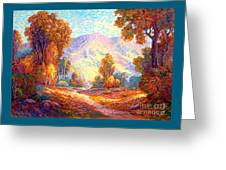 Radiant Peace, Colors Of Fall Greeting Card