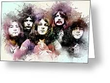 Deep Purple.rock Stars Greeting Card
