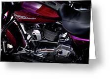 Deep Red Harley Greeting Card