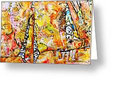 Art And Theater Greeting Card