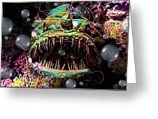 Deep Sea Monster Fish Greeting Card