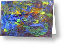 Deep Space Abstract Art Greeting Card