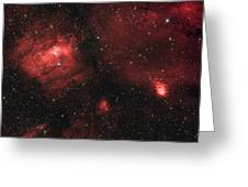 Deep Space Bubble Nebula Ngc 7635 In Constellation Cassiopeia Greeting Card