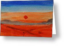 Deep Sunset Greeting Card