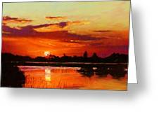 Deep Sunset Greeting Card