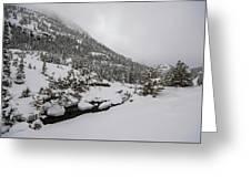 Deep Winter River Greeting Card