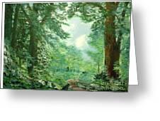 Deep Woods Path Greeting Card