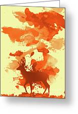Deer Art Morning Greeting Card