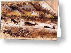 Deer Crossing Greeting Card