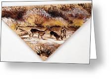 Deer Crossing Two Greeting Card