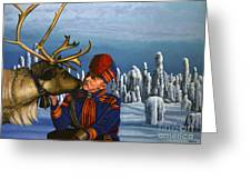 Deer Friends Of Finland Greeting Card