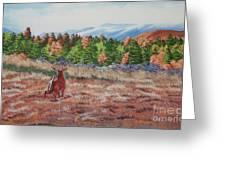 Deer In Fall Greeting Card
