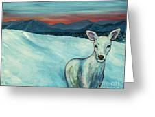 Deer Jud Greeting Card by Angelique Bowman