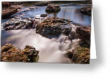 Deer Lake Riffles In Forest Park, St Louis, Missouri Greeting Card