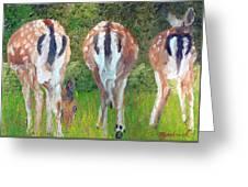 Deer Moon Greeting Card