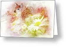 Deer One Greeting Card