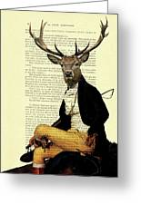 Deer Regency Portrait Greeting Card