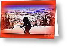 Deer Valley Utah Powder Greeting Card