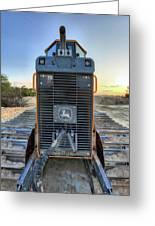 Deere Heavy Equipment  Greeting Card